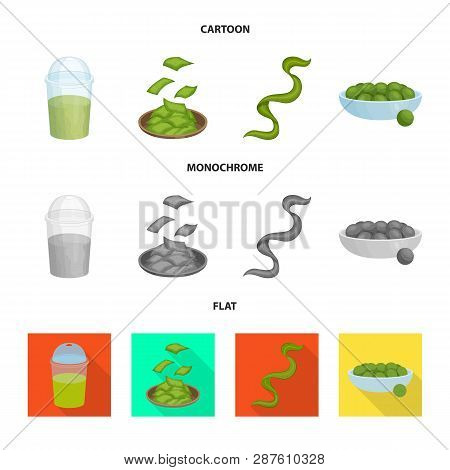 Vector illustration of protein and sea icon. Set of protein and natural vector icon for stock. poster