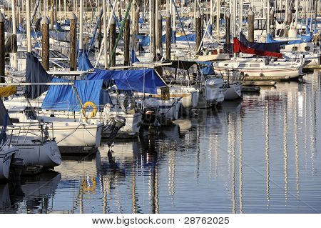 Everett marina, Washington