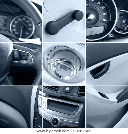 Car Interior Collage Tinted