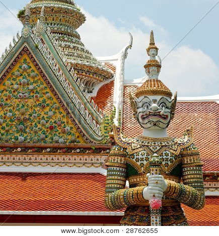 Giant Guardian In Front Of Wat Arun