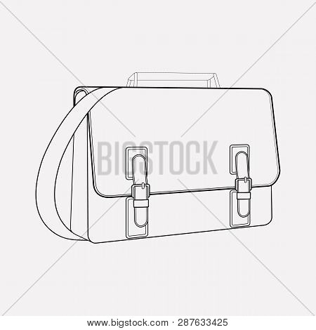Satchel Icon Line Element. Vector Illustration Of Satchel Icon Line Isolated On Clean Background For