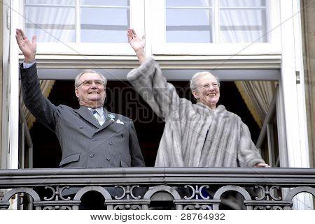 Denmark_queen Margrethe 40 Year Jubilee On Thorne