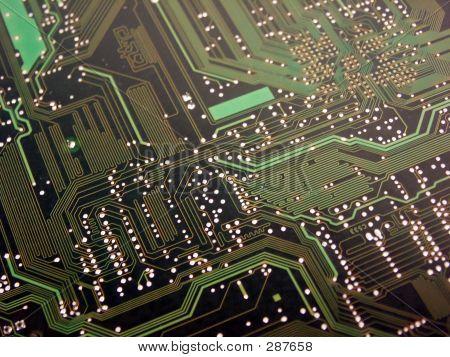 Computer Circuit Board Green