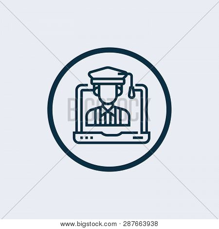 Save Download Preview Graduate Student Icon Isolated On White Background. Graduate Student Icon Mode