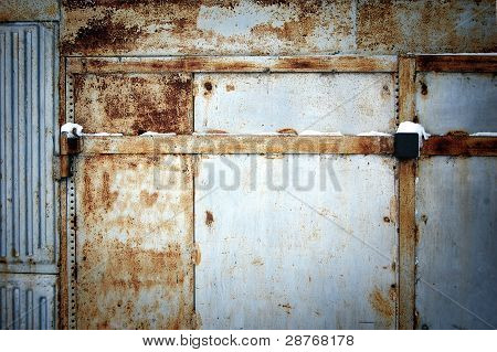 Weathered Garage Door
