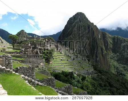 Machu Picchu In The Andes Peru, World Heritage Site