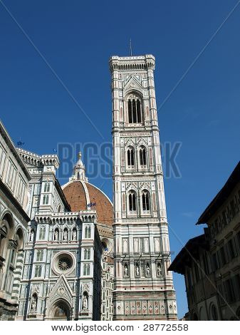 View of the Giotto's bell tower and Duomo - Florence poster