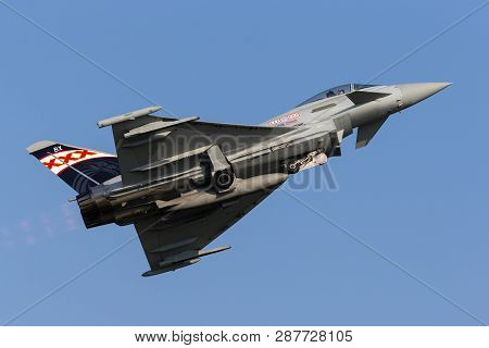 Payerne, Switzerland - September 6, 2014: Royal Air Force (raf) Eurofighter Ef-2000 Typhoon Fgr.4 Zk