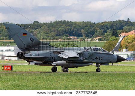 Payerne, Switzerland - September 1, 2014: German Air Force (luftwaffe) Panavia Tornado Ids Strike Ai