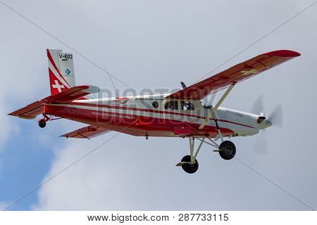 Payerne, Switzerland - September 2, 2014: Swiss Air Force Pilatus Pc-6 Porter Aircraft V-622.