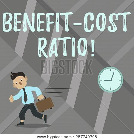 Word Writing Text Benefit Cost Ratio. Business Concept For Relationship Between The Costs And Benefi