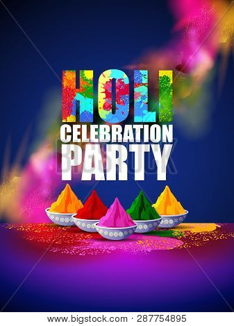 Colorful Happy Hoil Party Background For Festival Of Colors In India