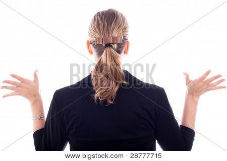 Business Woman Back