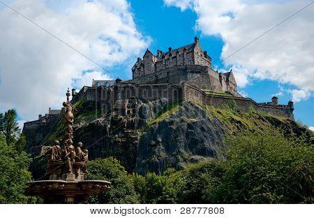 The Castle and Ross Fountain, Princes Street Gardens, Edinburgh