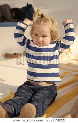 Vacation Whole Family Enjoy. Family Vacation Cruise Ship All Inclusive Tour. Kid Boy Toddler Travell