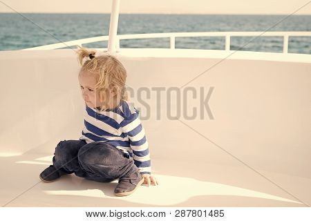 Kid Friendly Features. Family Vacation Cruise Ship All Inclusive Tour. Kid Boy Toddler Travelling Se