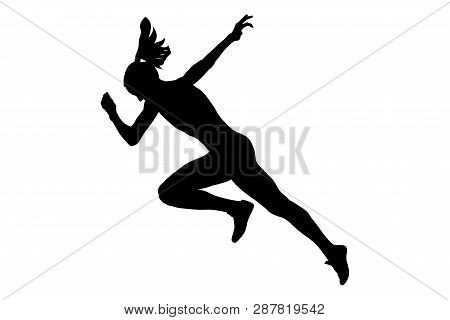start running faster woman sprinter runner bitmap image poster