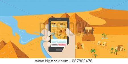 Funny Passover Banner Navigation App Out Of Egypt- Vector