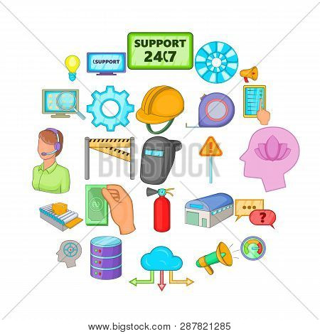 Computer Expertise Icons Set. Cartoon Set Of 25 Computer Expertise Icons For Web Isolated On White B