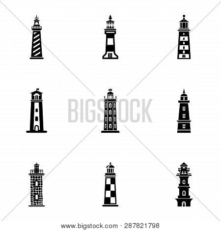 Enlighten icons set. Simple set of 9 enlighten icons for web isolated on white background poster