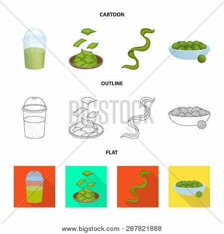 Vector design of protein and sea logo. Collection of protein and natural stock symbol for web. poster
