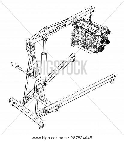 Engine Hoist Engine Vector Photo Free Trial