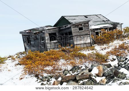 Morbid Charm - An Old Hunting Cabin In The Yukon Region Near To Keno
