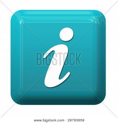 Blue info button