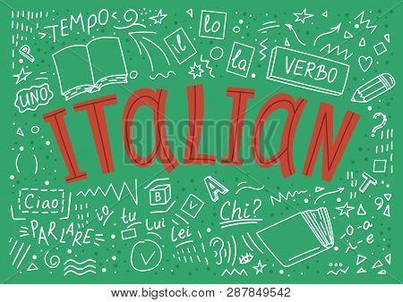 Italian. Il, Lo, La, Ciao, Verbo, Uno, Chi?, Io, Tu, Lui, Lei, Parlare, Tempo