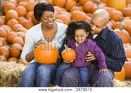 Family At Halloween.