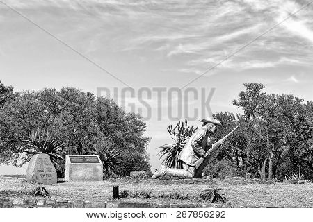 Pretoria, South Africa, July 31, 2018: The Danie Theron Monument At Fort Schanskop In Pretoria. Info