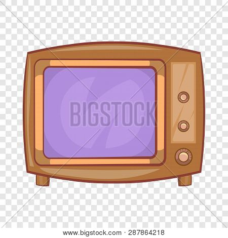 Retro Tv Icon In Cartoon Style On A Background For Any Web Design