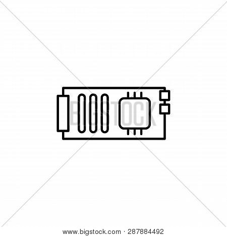 Robotics Mainboard Outline Icon. Signs And Symbols Can Be Used For Web, Logo, Mobile App, Ui, Ux