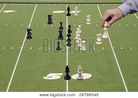 Chess Football With Offensive Coach