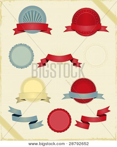 Vintage Ribbons And Banners Series