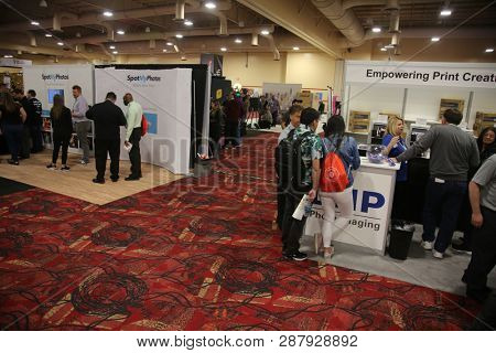2/25/2019 Las Vegas, Nevada: 5th Annual International Photo Booth Expo. Photo Booth Expo showing the newest and greatest technical updates in the photo booth industry. Held in Las Vegas Nevada.