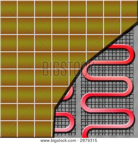 Electrical Floor Heater Under Ceramic Tiles
