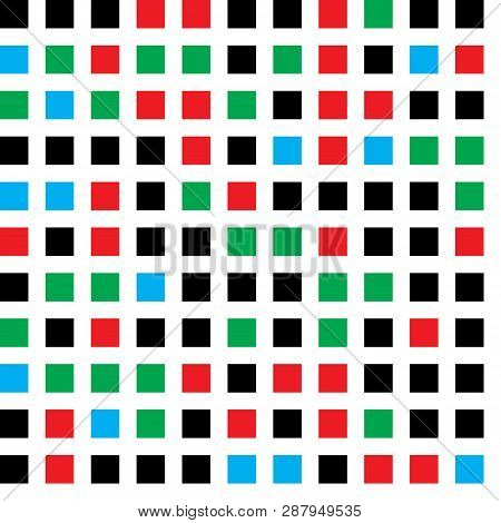 Horizontal And Vertical Colored Squares  Aligned With Colored:white (space) Ratio Equal With 34:21