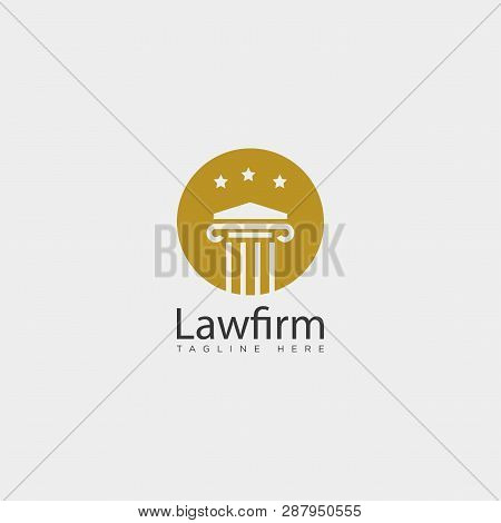 Law firm, advocate creative logo template with business card poster