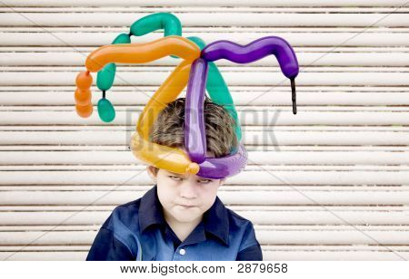 Mad Boy With A Balloon Hat