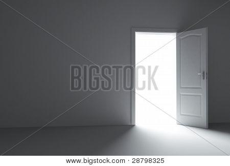 new room with open doors