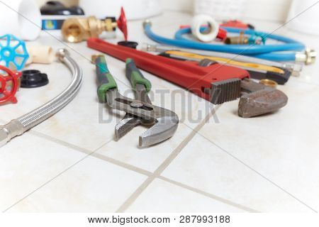 Plumbing construction tools.