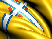 All Frisian flag. Close up. Front view. poster