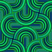 Crazy curves - tangled geometric pattern with acid poisonous green colors. Multicolor curvy lines. Abstract geo geometric technology background. poster