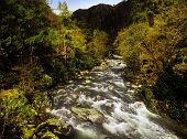 the gorge of the river glaslyn afon glaslyn aber glaslyn falls in the snowdonia national park wales uk gb poster