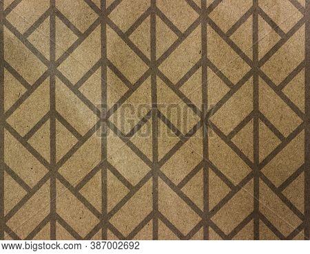 Angular Background. Diamond Pattern. Vintage Corner Background. Angular Pattern On A Yellow Backgrou