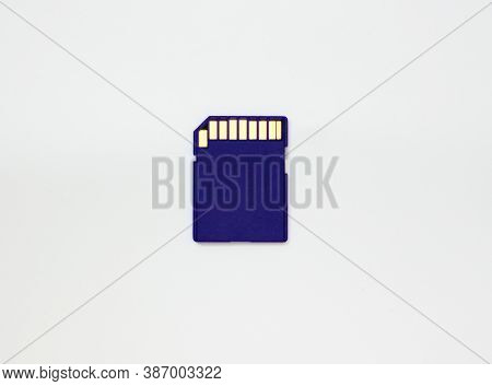 Sd Card. Blue Flash Drive. Sata Disk