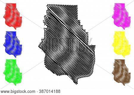 Harrison County, Indiana (u.s. County, United States Of America, Usa, U.s., Us) Map Vector Illustrat