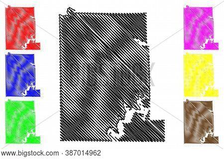 Monroe County, Indiana (u.s. County, United States Of America, Usa, U.s., Us) Map Vector Illustratio