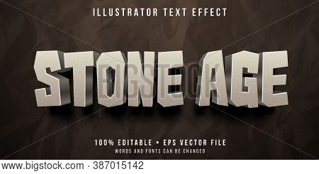 Editable Text Style Effect - Stone Theme Style.